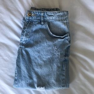forever 21 girls mom jeans size: 13/14